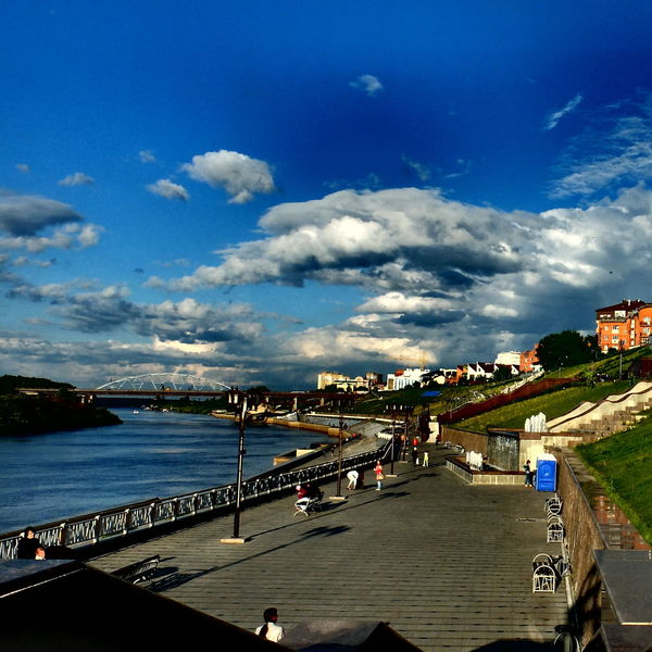 Architecture Beauty In Nature Blue Built Structure City City Life Cloud Nature Russia Sky Travel Destinations Tyumen' Water
