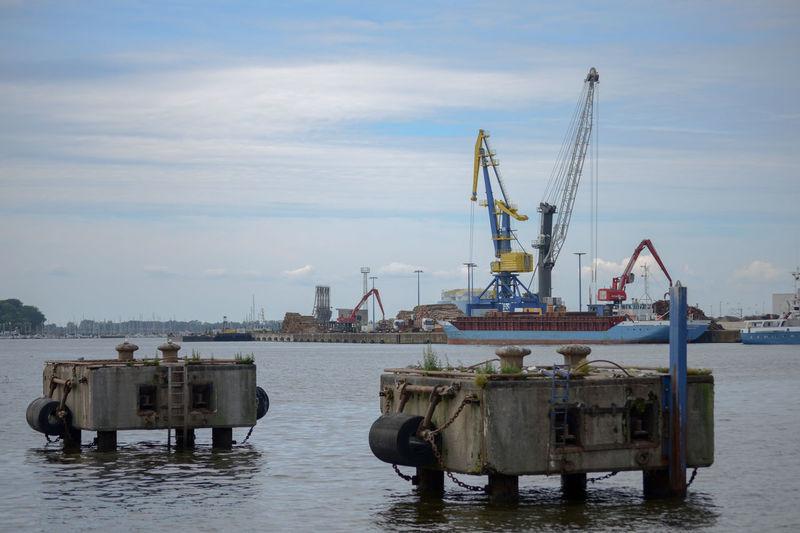 Hafen Kran Crane - Construction Machinery Day Habour Habour View Hansestadt Industry No People Outdoors Sky Wismar