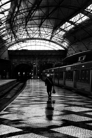 Portugal Blackandwhite Streetphotography Gare
