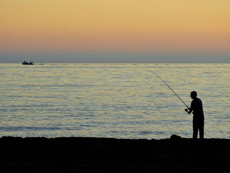 Gone fishin' Fishing Fishing Boat Fisherman Beach Sea And Sky Sea