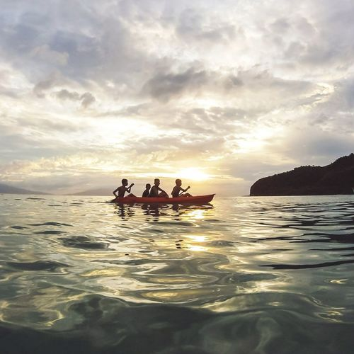 This month we travelled to Masasa Beach in Marikaban Island in Batangas province to conduct outreach program for the kids in the island.. this is a shot of local kids kayaking during sunset on our 1st day in the island👌⛅ Sunset Goprophotography Travel Sea Outdoors Cloud - Sky Sky Nature WaterTravel Photo Landscape Beauty In Nature Eyeem Philippines People And Places Masasa Beach Batangas Philippines Itsmorefuninthephilippines My Year My View Betterlandscapes The Great Outdoors - 2017 EyeEm Awards Live For The Story