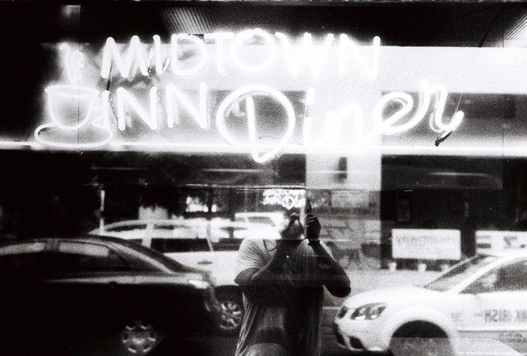 Midtown Diner Film Film Photography Fine Art Photography Filmisnotdead Filmcamera 35mm Film Grainisgood Grainy Streetphotography Streetphoto_bw Blackandwhite Minolta Sr3 EyeEm Gallery Eyeem Philippines