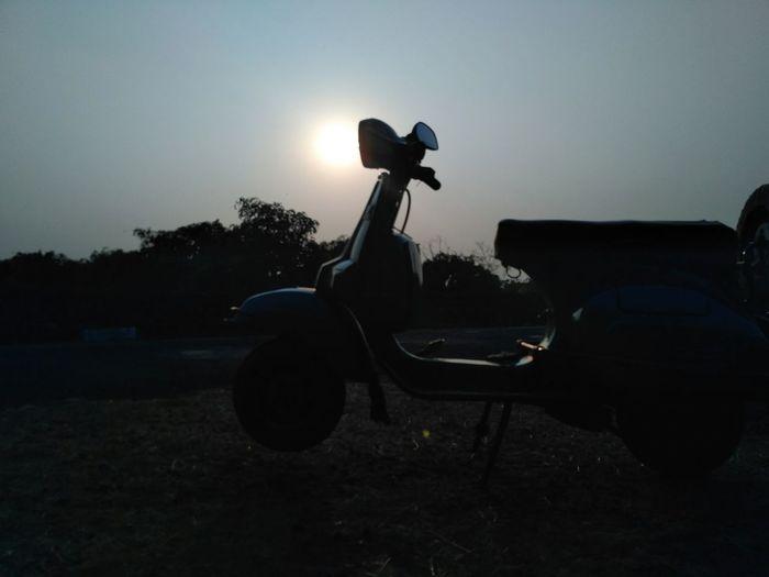 Bajaj Chetak Vintage Scooter Sunset Mumbai Mumbai Diaries