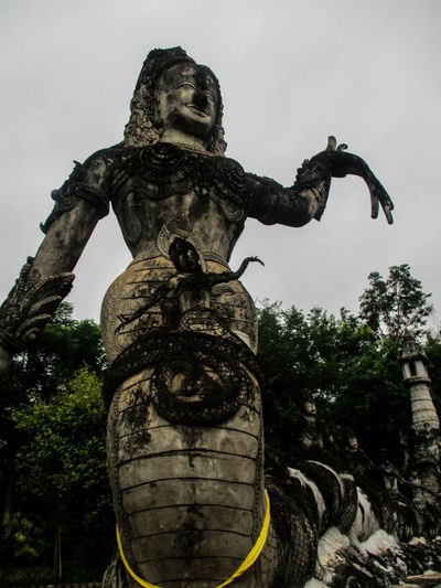 Sa La Kaeo Ku in Nong Khai,Thailand. Nature Statue Sculpture Travel Destinations Cloud - Sky City Photograph Beauty In Nature Photoart Photographing Picture Frame Backgrounds Photography Themes Sky Day Thailand🇹🇭