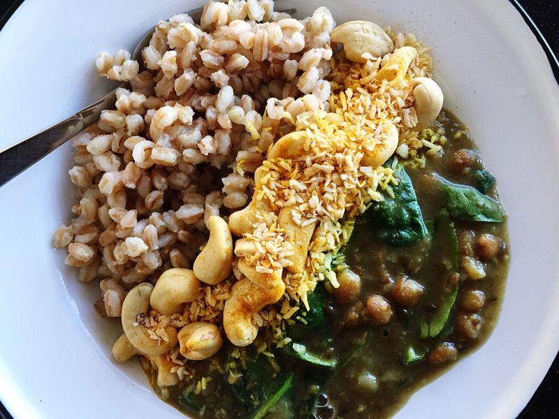 Bowl Lentils Cashew Tumeric