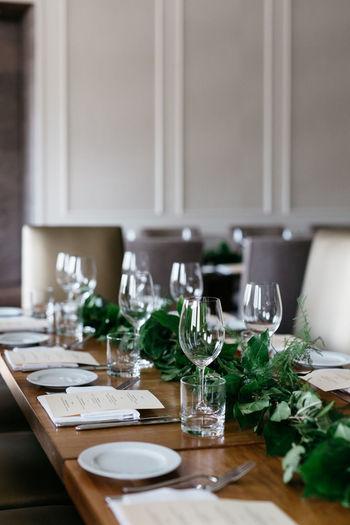 Close-up of elegant table in restaurant