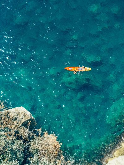 Birds Eye View Sea Blue People Croatia Dubrovnik Kayaking Water High Angle View Sea Day Beach Full Length Vacations Swimming Go Higher