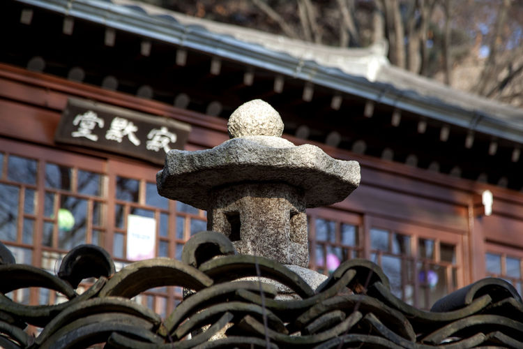Art And Craft Buddhism Buddhist Temple Circle Close-up Design Detail Hanging Korea Traditional Architecture Metal Metallic No People Old Ornate Pattern Religion Repetition Roof Tile Rusty Silsangsa Spiral Spirituality Stone Tower Textured  Winter