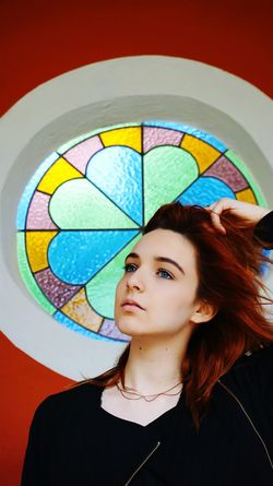 Bory-vár My Love Redhead Painted Window
