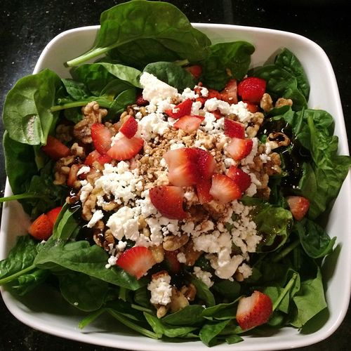 Food And Drink Healthy Eating Food Salad Bowl Freshness Ready-to-eat Vegetable No People Indoors  Serving Size Close-up Leaf Day Spinach Cheese Strawberries Strawberry Salad