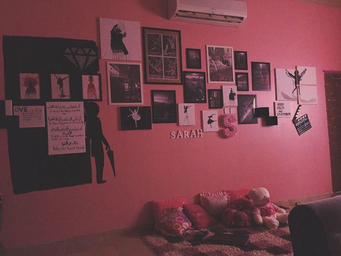 غرفتي الجميله Room Wall - Building Feature MyRoom Pink Frams Sara Hanging Out