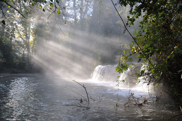 Monte Gelato Cascate Acqua Natura Raggi Di Sole Vecchia Mola Mazzano Romano Valle Del Treja