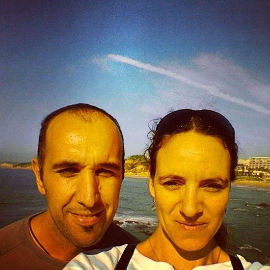 The ArtisIgnis Team geocaching in Santa Eulália Beach, Albufeira. Beach Geocaching Fun Sun artisignis