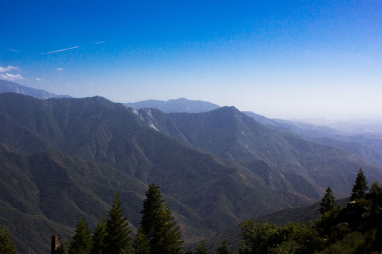 Mountain side in Sequoia National Park Mountain US Nationalpark Sequoia National Park Mountains Mountain And Sky