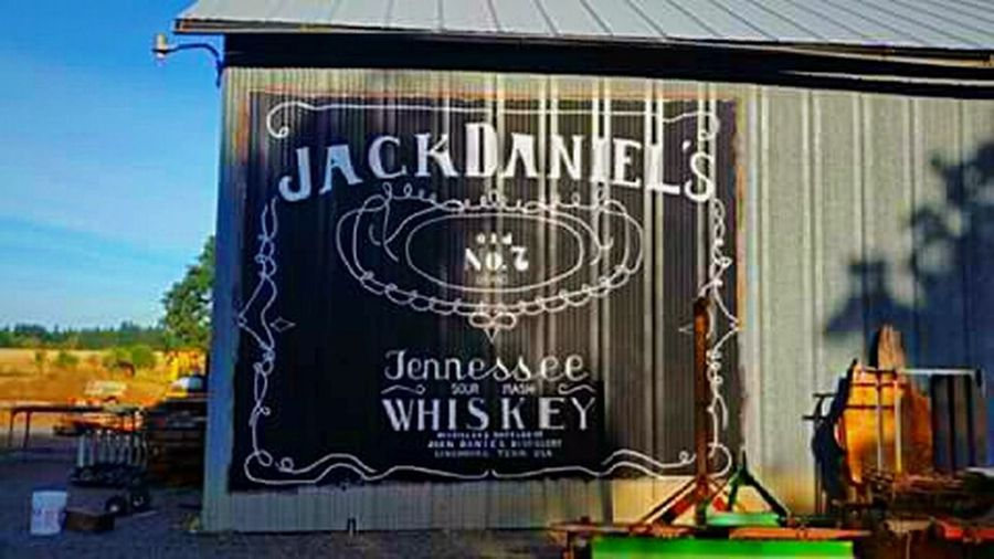 Text Day Jack Daniel's Drink Time Focus On Foreground Vacations Travel Destinations Tranquility Tranquil Scene Outdoors Sunlight Shade And Shadow Cultures Arts Culture And Entertainment Sunlit Beauty Barnlove JDphotography Signage Advertisement Advertising Liquor 21 & Over Adults Only Yummy♡ MIX IT UP The Week On EyeEm EyeEmNewHere Breathing Space Investing In Quality Of Life