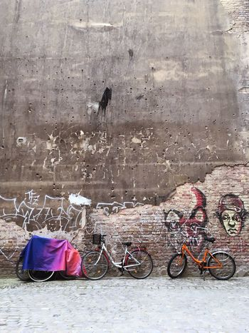 Bikes against the wall Scheunenviertel Bicycle No People Stationary Day Outdoors Bicycles Wall Wall - Building Feature Concrete Three Berlin Germany City City Life Urban Urban Lifestyle Transportation Fahrrad Wall Art Art Art Is Everywhere Discover Berlin The Week On EyeEm