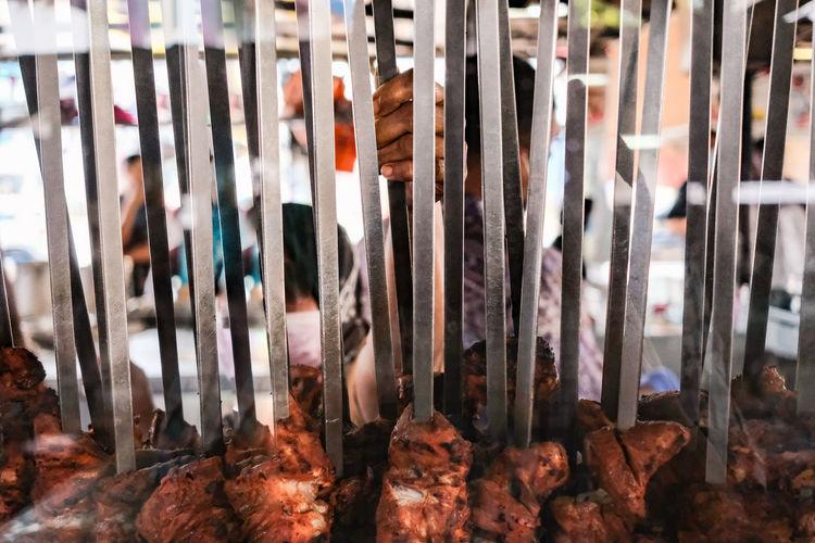 Full frame shot of chicken tandoori for sale in a restaurant