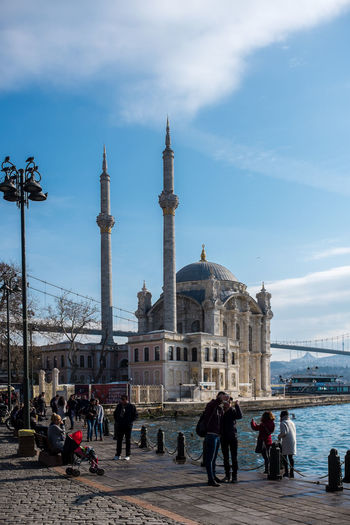 Ortaköy Istanbul Adults Only Architecture Bosphorus Bosphorus Bridge Bridge Building Exterior Camii City Dome Istanbul Istanbul Bridge Large Group Of People Mosque Ortaköy Ortaköy Mosque Ortaköycamii Place Of Worship Sky Tourism Tower Travel Travel Destinations Turkey Türkei Türkiye