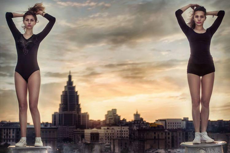 Beauty Women Portrait People Портретная фотография Project: Swimmer Ph: Vladimir Yuga Location: Moscow, Sadovaya-Sukharevsky, 4 Model: Yulia Zueva, Vicka Muromtsev Assistant: Sergey Matonin Postprocessing: @ilyarzaev