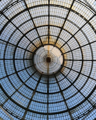 Low angle view of glass dome