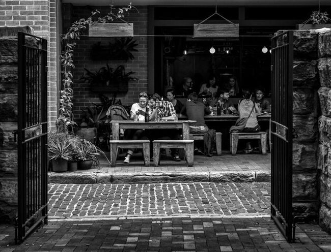 Eating Out Australia Sydney Nsw Street Streetphoto_bw Street Fashion Street Style Streetphotography Blackandwhite Monochrome Urban City People Candid Xpro2 Fujixpro2 FujifilmXPro2 Xf35mmf2 Fujiusers