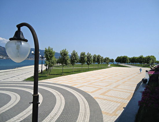 City Foot Walk Footpath Footway Novorossiysk Pavement Quay Russia Sea Seafront Sidewalk Summer Sunny Sunny Day Tranquil Days Tranquil Live
