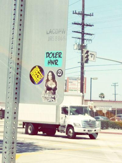 Transportation Mode Of Transport Land Vehicle No People Outdoors Day Graffiti Stickers Street Art Stoplightpic
