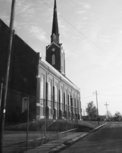 Architecture Building Exterior Church Black And White