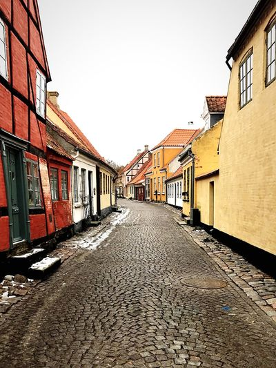 Emptystreets Street Streetphotography Street Photography Cobblestone Cobblestone Streets Cobblestones Cobbled Streets Houses Oldhouses Ærøskøbing Denmark Quirky Design Architecture