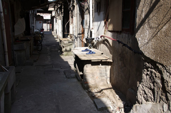 Abandoned Places Shaddows Shanghai Old Town Shanghai, China Abandoned Buildings Architecture Built Structure Lonelyplanet Streak Of Light