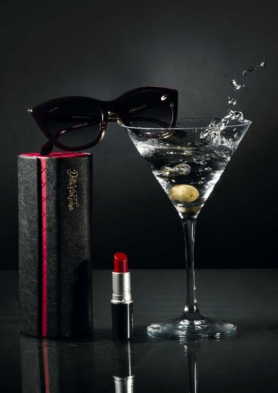 Black Background Close-up Cocktail Ditavonteese Drinking Glass Glass Glasses Lipstick Martini Martini Glass No People Olive Still Life Still Life Photography Studio Shot