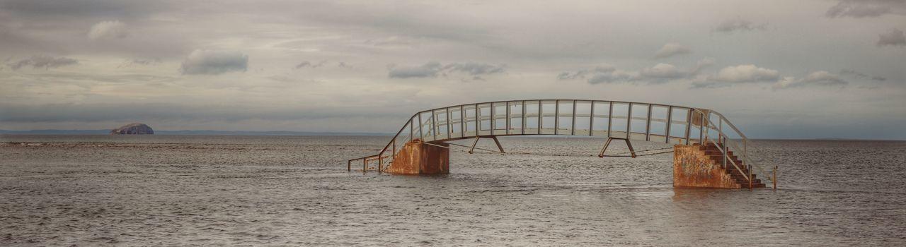 The Bridge to Nowhere Architecture Bridge Bridge To Nowhere Dunbar, East Coast, Nature Scotland Sea, Water,