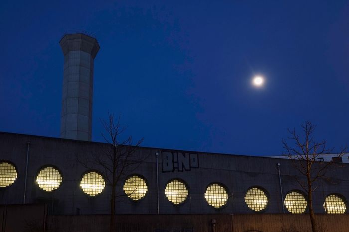 Night Sky Architecture Built Structure Moon Illuminated Building Exterior Dusk Full Moon No People Building Low Angle View Blue Tower Moonlight Lighting Equipment City