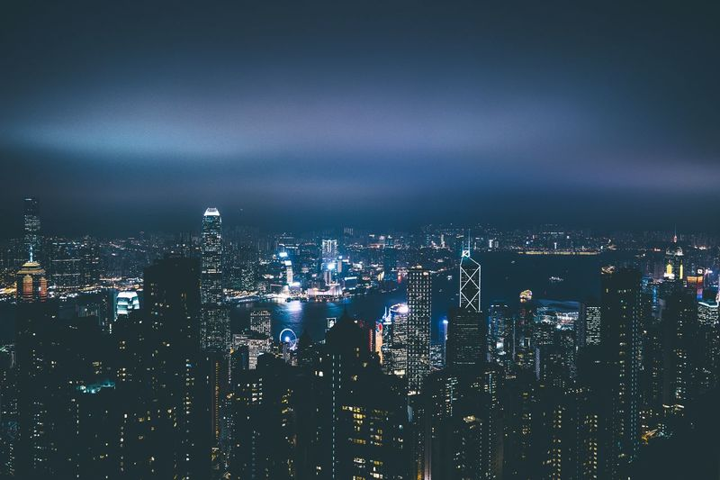 Asia #1 Architecture ASIA Building Exterior Built Structure China City Cityscape Contrast Downtown District Hk HongKong Illuminated Modern Night Nightshot No People Outdoors Sea Sky Skyscraper Travel Travel Destinations Urban Skyline Victoria's Peak Water First Eyeem Photo The Architect - 2017 EyeEm Awards