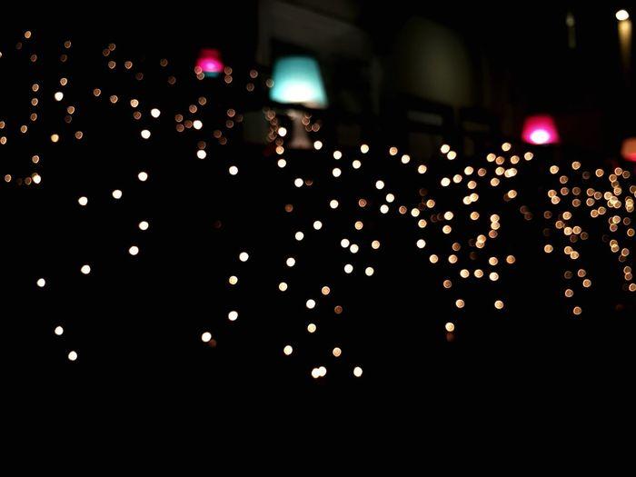 Night Lighting Equipment Bokahlights Illuminated Defocused Celebration No People Indoors  Close-up