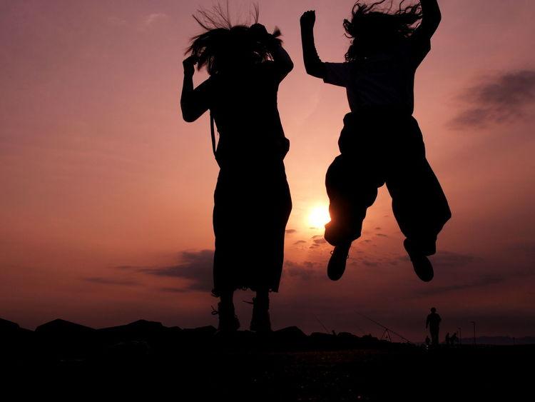 jump jump jump!!! Enjoying Life Jump Sunset 青春