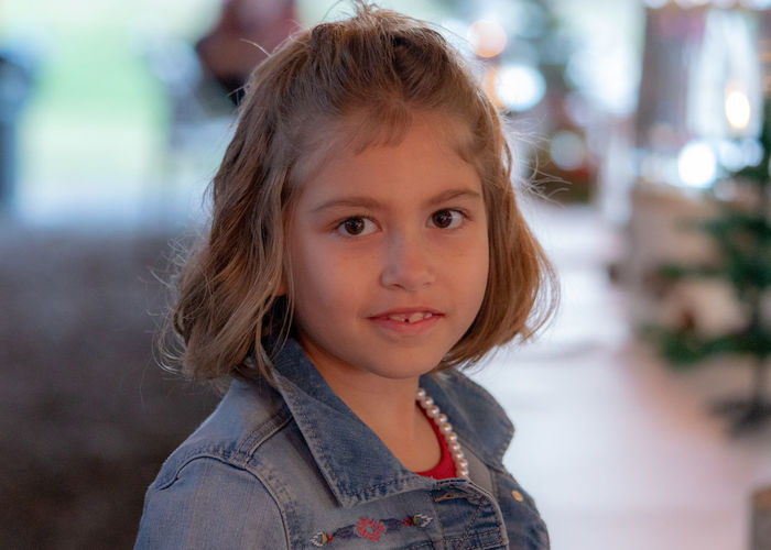 Portrait Childhood Headshot Focus On Foreground Child Looking At Camera One Person Cute Innocence Females Real People Girls Close-up Women Casual Clothing Hairstyle Lifestyles Standing Front View