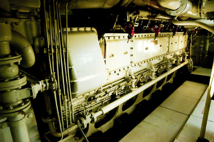 Commercial Ship Engine Room Engine Room Machinery Motor Engine Engineering Factory Machinery Ship Vessel