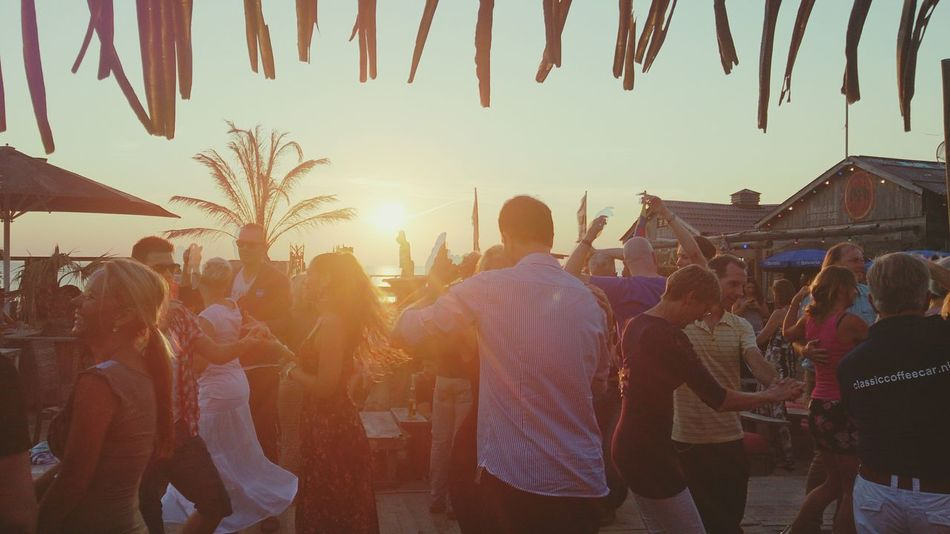 Salsa Dancing by the Sunset