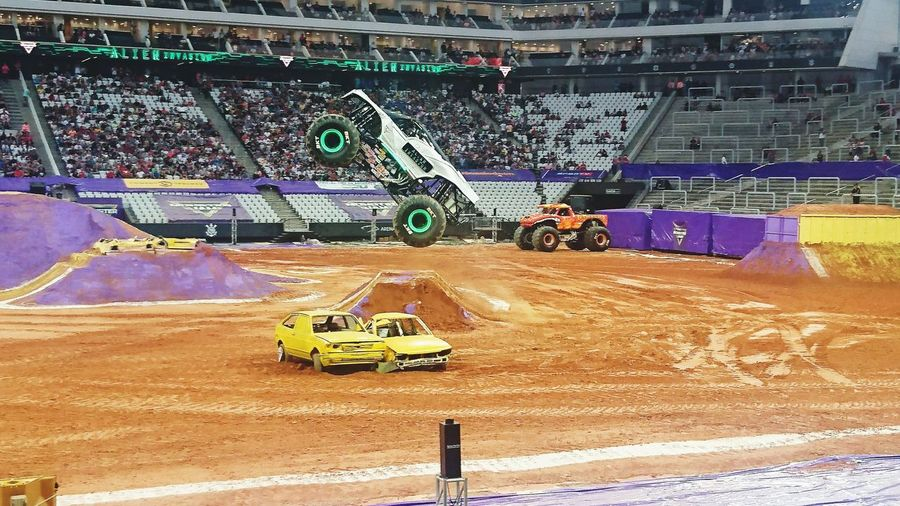 Monster Trucks Monsterjam2017 Sand Day Outdoors Stadium No People