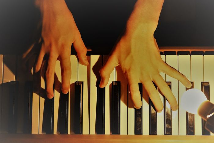 Evening Piano Close-up Human Body Part Human Hand Indoors  Musical Instrument Musical Instruments Musician One Person People Pianist Piano Piano Key Piano Keyboard  Piano Keys Piano Man Piano Moments Piano Time Love Yourself This Is Masculinity Inner Power