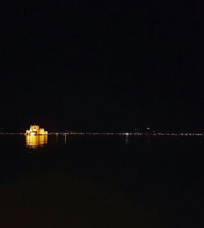 Greece Nauplio Bourtzi Night Lights Nightshot Night Sea Sea Mirage