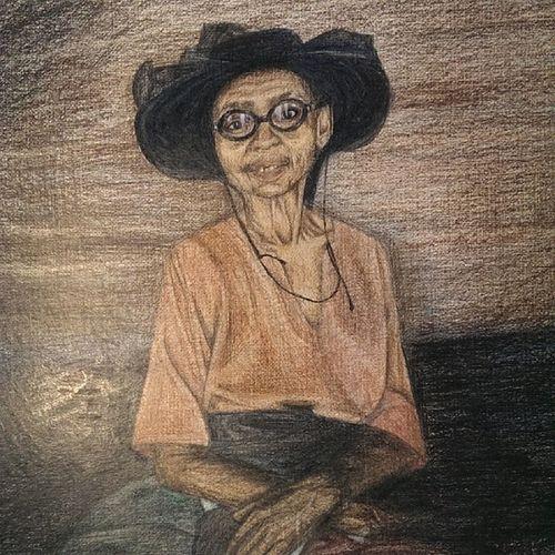 """рисунок по фото Джессики Хиллтаут """"Мария - продавец угля"""" Первый рисунок после аварии. Рука еще частично недееспособна."""
