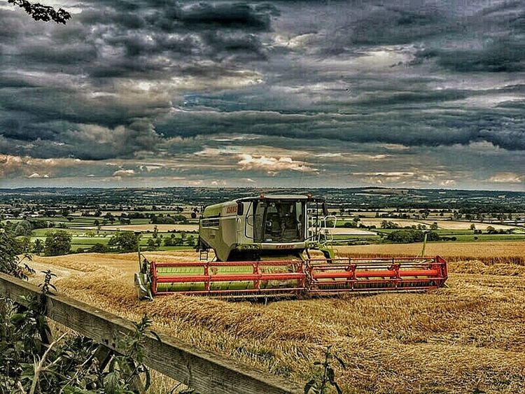 Taking Photos Clouds And Sky Stormy Day Stormy Sky Stormy Weather HDR Cloudy Hdrphotography Beauty In Nature Hdr_Collection Nature Nature Photography Landscapes Landscape_photography Landscape Hills Hillside View Hdr_captures Fields Harvesting Harvester Harvest Time Agriculture Farmland Farmmachinery