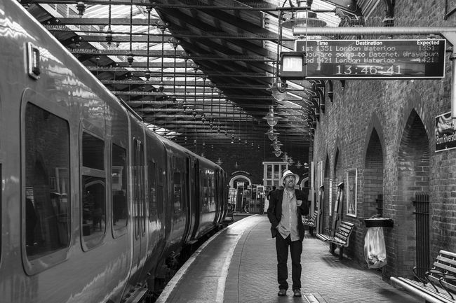 Waiting for the train... Transportation One Person Travel Canon 6D Travel Destinations London Streetphotography Phototraveller Eyemphotography Globetrotter Wanderlust Waphaphotographer Travel Photography EyeEmNewHere Black And White Photography Lifestyles Viaggiare Liveforadventure Livefortravel Lonelyplanet Railroad Station Platform Real People Men Day Postcode Postcards