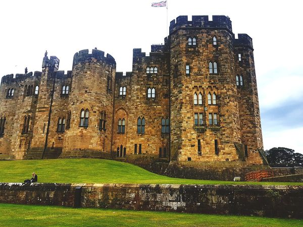 History Architecture Building Exterior Old Ruin Cloud - Sky Travel Destinations Built Structure Business Finance And Industry Castle War Day Grass Outdoors Ancient Civilization No People Sky Alnwick Castle Alnwickgardens Alnwick Northumberland