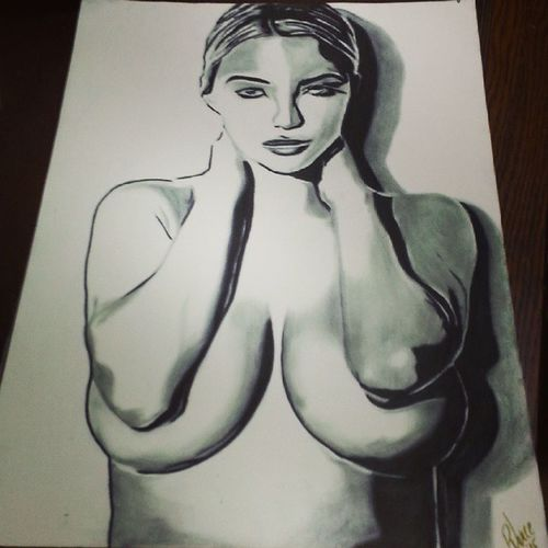 Finished my charcoal piece of the gorgeous @lindseypelas. If your not a fan, check her out. Lindseypelas Artbypjuice