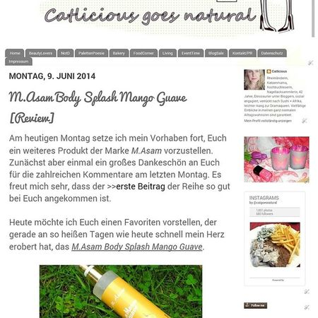 M.Asam Body Splash Mango Guave ? Review now on www.catliciousgoesnatural.de ? Masam Bodysplash Mangoguave Körperspray review blogpost published naturalcosmetics cosmetics beauty beautiful bblogger beautyblogger blogger loveit