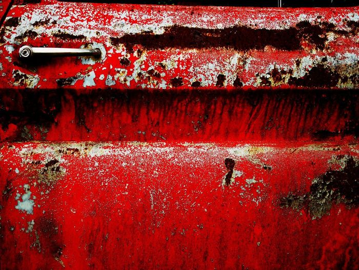 Red Weathered Rusty Metal Backgrounds Full Frame Day Damaged Close-up Old Abandoned No People Wall - Building Feature Decline Run-down Obsolete Textured  Outdoors Deterioration Paint