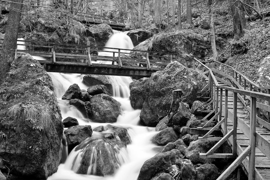 Nature SonyAlpha6000 Beauty In Nature Blackandwhite Blurred Motion Bridge - Man Made Structure Day Forrest Long Exposure Motion Myrafällle No People Outdoors Scenics Tranquillity Water Waterfall